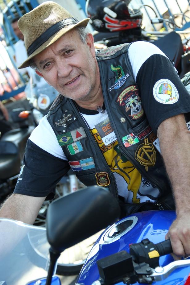 Edson Costa, presidente e moto clubeiro do Calangos do Asfalto